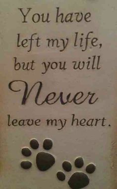 Never leave my heart