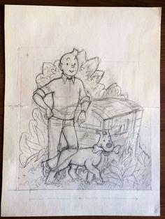 Find auction results by Studios Hergé. Comic Books Art, Comic Art, Beautiful Pencil Sketches, Herge Tintin, Jordi Bernet, Ligne Claire, Learn Art, Sketch Inspiration, Classic Comics
