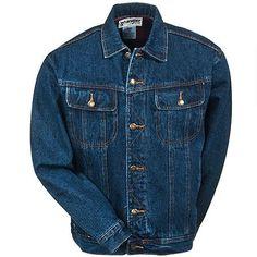 Wrangler RJK32 AN Men's Flannel Lined Denim Jacket