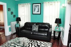 I love the teal with the white and black but I'm not a huge fan of zebra print galore. I like the accent pillow though.