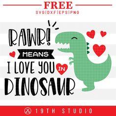 Fields Of Heather: Free Cut Files For Valentines Day Projects Dinosaur Valentines, Valentines For Boys, Cricut Tutorials, Cricut Ideas, Cricut Craft, Valentines Design, Duct Tape, Love You, Png Format
