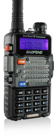 Baofeng Black UV-5R V2  Plus (USA Warranty) Dual-Band 136-174/400-480 MHz FM Ham Two-way Radio, Improved Stronger Case, Enhanced Features *** This is an Amazon Affiliate link. To view further for this item, visit the image link.