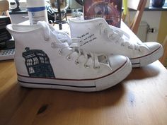 dr. who shoes, so i must do this with my converse:)