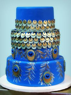 Peacock cake - Sara,look at this.. I know its too late but look at this:)