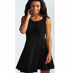 027f79130c7e boohoo Sara Seam Detail Skater Dress - black azz49473 Opt for a feminine  style this season