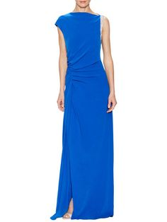 Asymmetrical Embellished Gown by Halston Heritage at Gilt