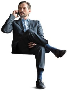 Office Businessman sitting with phone. Cut Out by www.mrcutout.com #cutout #visualization #images #business #architecture #photoshop #people #phone #man #elegant #suit