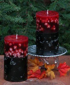 #Velas que parecen tener #copos de nieve para decorar en invierno. #
