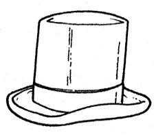kleurplaat hoge hoed - Google zoeken