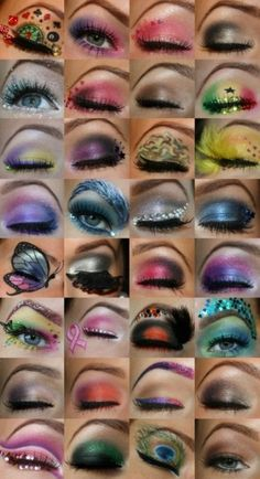 Tons of eye makeup designs.
