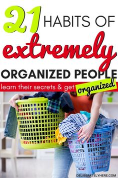 21 everyday habits of extremely organized people. Everyday organization ideas for the home to create a simple organized home on a budget. Use these organized home ideas to help you declutter and organize your house and life. Use these organization hacks t Organisation Hacks, Storage Organization, Bedroom Organization, Storage Ideas, Kitchen Organization, Declutter Your Home, Organize Your Life, Organizing Your Home, Organizing Tips