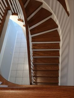 Wood Stair Treads, Wood Balusters, Staircase Railings, Wood Stairs, Ontario, Furniture, Home Decor, Wooden Ladders, Wooden Staircases