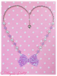 Dot Cute Ribbon Ribbon Necklace