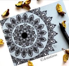 "Richa S on Instagram: ""Struggle is an unavoidable part of self-employment. Nothing ever comes easy, when you are trying to build towards your dreams. Difficulties…"" Mandala Art Therapy, Zen Doodle, Mandala Pattern, Mandala Tattoo, Zentangle, Doodles, Graphic Design, Dreams, Drawings"