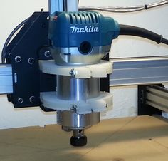 """Makita Compact Router mounting brackets done on my Shapeoko2 CNC machine. The material was from a 1/2"""" plastic cutting board."""