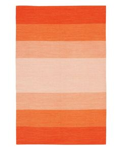 You can't go wrong with a classic, striped rug. Chandra India Orange Striped Area Rug, starts at $19.wayfair.com   - HouseBeautiful.com