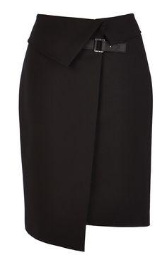 Asymmetric wrap skirt | Luxury Women's zz_criteo | Karen Millen