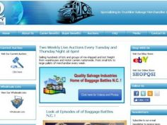 Quality Salvage Industries - Freight Auctions in the United States - Baggage Auctions Map Baggage, Favors, Auction, Industrial, The Unit, Map, Presents, Host Gifts, Gifts