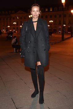 Natasha Poly avant le défilé Atelier Versace automne-hiver 2016-2017