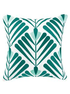 Vines Pillow from Beauty in the Details: Embroidered & Embellished Pillows on Gilt