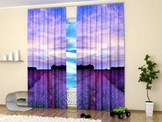 images of  purple drapes and window coverings   ... and sunset pictures creating modern window treatments in purple colors