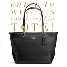 Coach Sophia Tote Giveaway