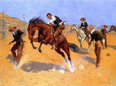Turn Him Loose, Bill (Frederic Remington - 1893)
