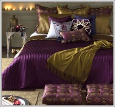 pretty much the color scheme of my dreams but I would prefer a softer bed spread