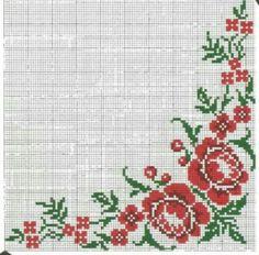 Christmas Cross, Christmas Tree, Cross Stitch Rose, Crochet Tablecloth, Holiday Decor, Pattern, Cross Stitch Borders, Counted Cross Stitches, Cross Stitch Designs