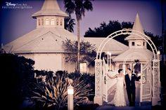 Sunset portrait session at Disney's Wedding Pavilion