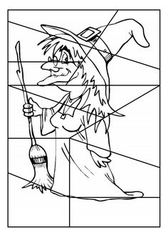 Begeleide of zelfstandige activiteit - Puzzelen en kleuren Halloween Crafts For Kids, Halloween Pictures, Halloween 2019, Halloween Cards, Holidays Halloween, Halloween Themes, Happy Halloween, Coloring Books, Coloring Pages