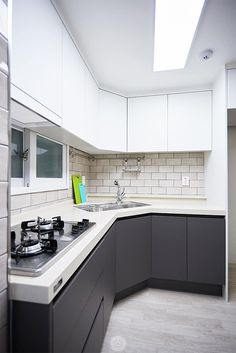 Kitchen Furniture, Furniture Design, Kitchen Room Design, Grey Kitchen Cabinets, Interior Design, Home Decor, Environment, Houses, Kitchens