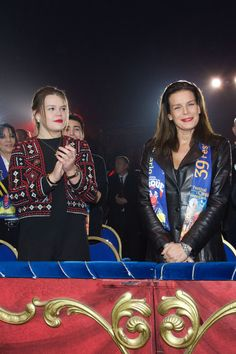 Princess Stephanie of Monaco and Camille Gottlieb attended the 39th International Circus Festival of Monte Carlo on January 17, 2015 in Monaco, Monaco.
