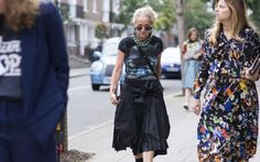 Lucinda Chambers at London Fashion Week
