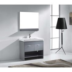 FREE SHIPPING! Shop Wayfair for Virtu Gloria 35 Single Bathroom Vanity Set with Mirror - Great Deals on all Home Improvement products with the best selection to choose from!
