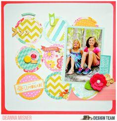 #Papercraft #scrapbook #layout.  Summertime Happiness
