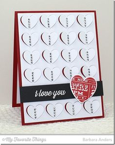 All My Love stamp set and Die-namics, Fluttering Hearts Cover-Up Die-namics - Barbara Anders #mftstamps