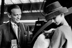"""Actress Audrey Hepburn (1929-1993), with dancer Fred Astaire (1899-1987), in Stanley Donen's film, """"Funny Face,"""" 1957."""