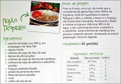 PANELATERAPIA - Blog de Culinária, Gastronomia e Receitas: Feijão Tropeiro em 15 minutos