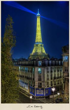 Eifel Tower at night.  Do yourself a favor and check out this guys website.  click the pic :)
