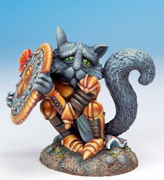 Brave Sir Robin - Scaredy Cat - Critter Kingdoms™ Anthropomorphic Animals - Miniature Lines