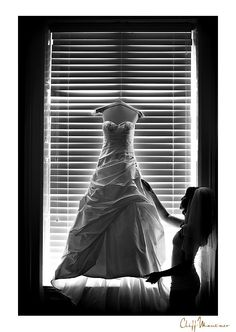I always love the brides looking at their dress. cliff mautner