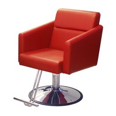 Bria Styling Chair - The Bria styling chair is both stylish and comfortable, with molded foam seats and fully upholstered. Available in White. Salon Furniture, Buy Chair, Barber Chair, Foot Rest, Stylish, Red, Color, Mini, Home Decor