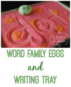 Fun, Easter themed way to teach kids word families. {Playdough to Plato}