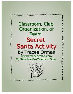 Free download: Classroom or Team Secret Santa Activity