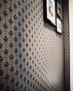 Self adhesive vinyl temporary removable wallpaper, wall decal - Diamond black&white pattern - 055