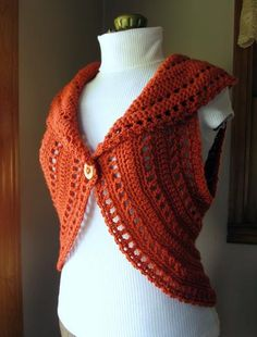 Crochet Circle Vest or Shrug