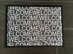 """REMAX - """"Welcome"""" Fußmatte."""