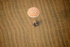 The Soyuz TMA-1 landing. /via Letters from Earth