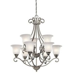 Shop for Kichler Lighting Camerena Collection 9-light Brushed Nickel Chandelier. Get free shipping at Overstock.com - Your Online Home Decor Outlet Store! Get 5% in rewards with Club O! - 18785277